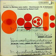 ROBERT CRAFT boulez le marteau sans maitre stockhausen nr 5 LP VG+ ML 5275