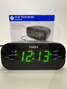 Timex AM/FM Clock Radio Digital Tuning MP3 Line T231GY Open Box...