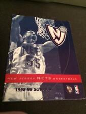 1998-99 New Jersey Nets Basketball Pocket Schedule McDonald's Version J Williams