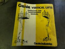 Genie V-1832 & V-1854 Lift Operating & Maintenance Manual