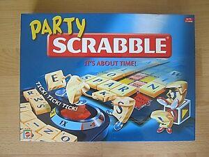 Party Scrabble Board Game - 2004 Mattel - 100 % Complete
