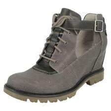 Mujer Caterpillar Textil Negro/Leather Zapato de cuña Helena talla UK 8
