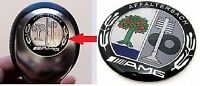 RARE COLOURFUL AMG CLASSIC MERCEDES BENZ GEAR KNOB BADGE MERCEDES 29MM INSERT