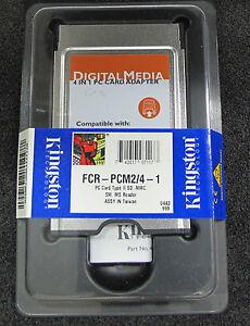 Kingston FCR-PCM2/4-1 PC CARD TYPE II SD MMC SM MS READER NS