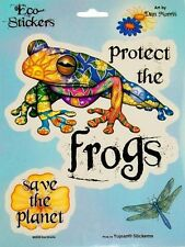 "(#87) Dan Morris Protect The Frogs 5-1/4"" x 4-3/4"" stickers (210)"