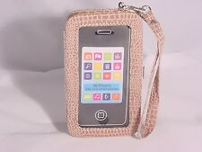 iPhone5 iPhone 5s Cell Phone Case BeigePurse Wallet Wristlet Clutch #21a Beige
