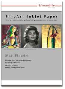 Hahnemuhle German Etching Inkjet Paper 310gsm A4/25