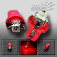 2 x B8.5 D T5 X1 5050 SMD / LED XENON ROSSO velocità Pannello Laterale Lampadina