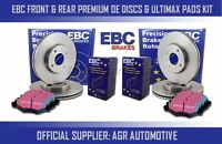 EBC FRONT + REAR DISCS AND PADS FOR PEUGEOT 406 COUPE 2.0 1997-05