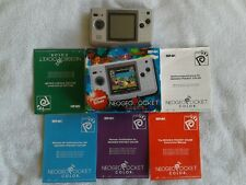 Neo Geo Pocket Color Console UK Ver Platinum Silver Boxed Working SNK Japan 1999