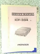 Pioneer kp-334 service manual original repair book stereo car radio tape deck