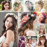 Women Flower Garland Headband Floral Crown Boho Wedding Bridesmaid Hairband Lot