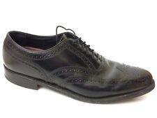 Florsheim 20381 Men 10 D Medium Black Lexington Oxford Wingtip Brogue Dress Shoe