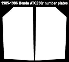 Rear fender decals for a 85-86 Honda ATC 250r 3-wheeler    ATC250r ATC 250r