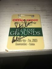 Hale Irwin And Steve Irwin 2003 Father Son Challenge Winners Signed Badge