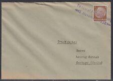 23395) Tannwald-Schumburg 1938 Sudetenland Aushilfsstempel Drucksache