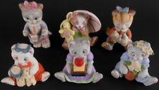 Kitten Cat Figures Figurines Lot of 6 Bronson Collectives & JH Brands Kitty