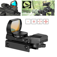Red Green Dot Sight Reflex Sight Scope with 4 Reticles and 20mm Rail Mounts