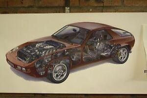Porsche 928 red pvc large WORK SHOP banner garage car show banner