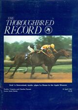 1981 Thoroughbred Record Magazine: Bold n' Determined Wins Apple Blossom