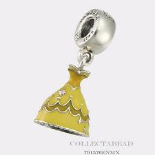 Authentic Pandora Silver Dangle Disney Belle Dress Bead 791576ENMX