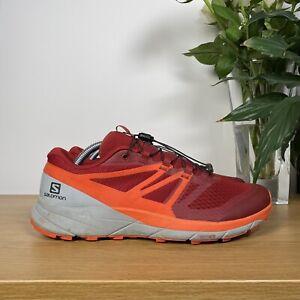 Men SALOMON SENSE RIDE 2 Trail Running Walking Hiking Trainer Red US9/UK8.5/42.5