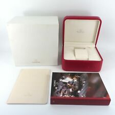 GENUINE OMEGA WATCH BOX RED & SILVER SEAMASTER SPEEDMASTER