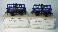 More details for pair mint boxed o gauge darstaed express dairy milk tank wagons ace trains etc