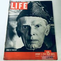 VTG Life Magazine January 5 1948 - Biography of Muhammad Ali Jinnah of Pakistan