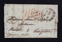 UK Scotland 1846 Stampless Transatlantic Letter SFL Inverness to Picton Canada