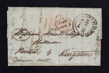 UK Scotland 1846 Stampless Transatlantic Letter SFL Inverness to Picton Canada