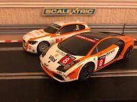 Scalextric Lamborghini Gallardo & BMW 125 Fully Serviced & New Braids Fitted