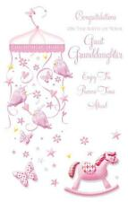 Congratulations On The Birth Of Your Great Granddaughter Modern Design New Card