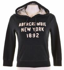 ABERCROMBIE & FITCH Womens Hoodie Jumper 3/4 Sleeve Size 10 Small Blue  NG48