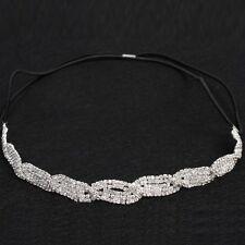 Edles Luxus Stirnband Strass Diadem Hochzeits Haarband Kopfband Haarschmuck