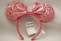 Tokyo Disney Resort Minnie Mouse Spangle Sequins Pink 2018 Headband Costume