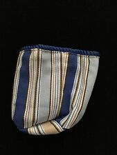 Longaberger Sort & Store Square Pencil Basket Liner - Cabana Blue Stripe