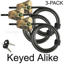 Master Lock - (3) Python Trail Camera Camouflage Cable Locks 8418KA3 CAMO 3-Pack