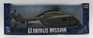 New Ray Helicopter Glorious Mission W/ Army Men Figures Chopper 1:32 New Toy