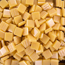 12mm Mosaic Glass Tiles - 4 Ounces About 90 Tiles - Butterscotch Yellow Color