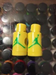 Jumpman Lace Locks Base VI 6 Nike Jordan Air logo maroon splatter grey yellow XI