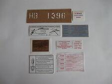 AUTOCOLLANTS(7) COMPARTIMENT MOTEUR PEUGEOT 504 et 504 CC