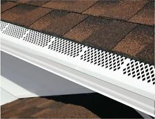 3 Ft White Snap-In Residential Gutter Guard Cover Screen Leaf Debris Protection