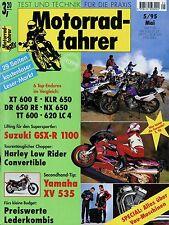 Motorradfahrer 5/95 1995 Dyna Low Rider Convertible KTM 620 LC 4 XV 535 KLR 650