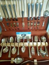 1881 ROGERS SILVERPLATE BROOKWOOD 8 PLACE SETTING, SERVICE, 2 EXTRA SPOON SETS