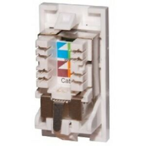 Cat6a FTP RJ45 Euro Module 25 x 50mm Data Outlet Comms Network LAN