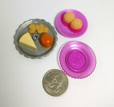 Food Lot Clear Pink Plate Muffins Dessert Tray Barbie Doll Miniatures