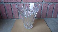 HUGE 10 1/2 INCH BACCARAT FRANCE ART GLASS EUDES CRYSTAL BOUQUET FLOWER VASE