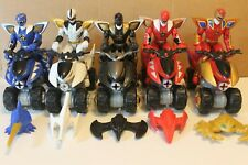 Power Rangers Dino Thunder ATV's Triassic Red Blue Black White w/weapons VHTF