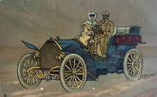 1900s Tucks & Sons Art Series Postcard - Couple in De Dietrich Car -Art 1907 P5